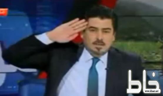 """بالفيديو: مذيع عراقي يؤدي التحية على الهواء مباشرة للسفير السعودي """"السبهان"""""""