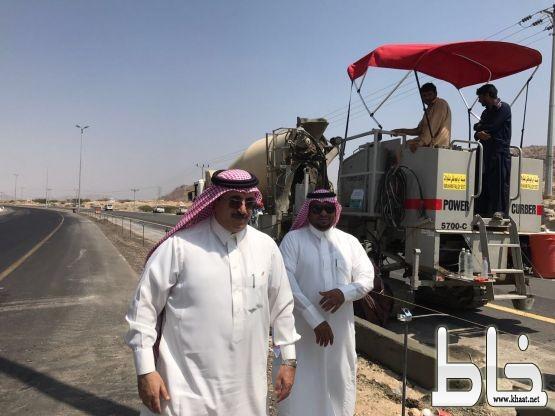 آل حموض و البارقي يقفان على طريق الجامعة و مشتل البلدية بمحافظة #بارق