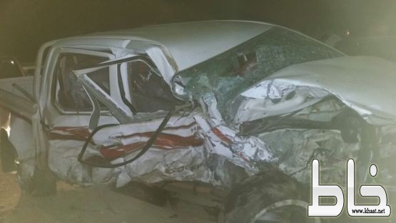 حالتي وفاة وإصابة أخر في حادث تصادم بين سيارتين على طريق ثربان - أحد ثربان