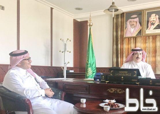 آل حموض يستقبل مدير مكتب كهرباء المجاردة المكلف محمد علي حامد