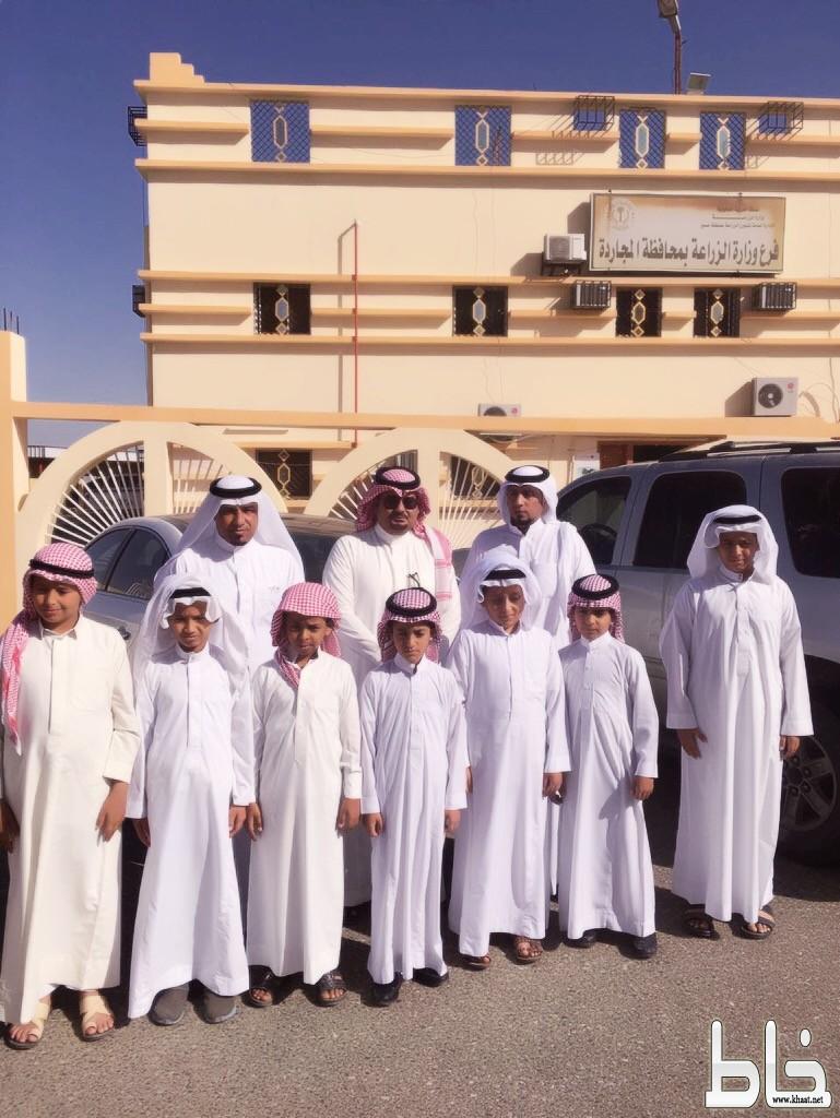 مدرسة عبد الله مسعود بمملح في زيارة لفرع الزراعة بالمجاردة