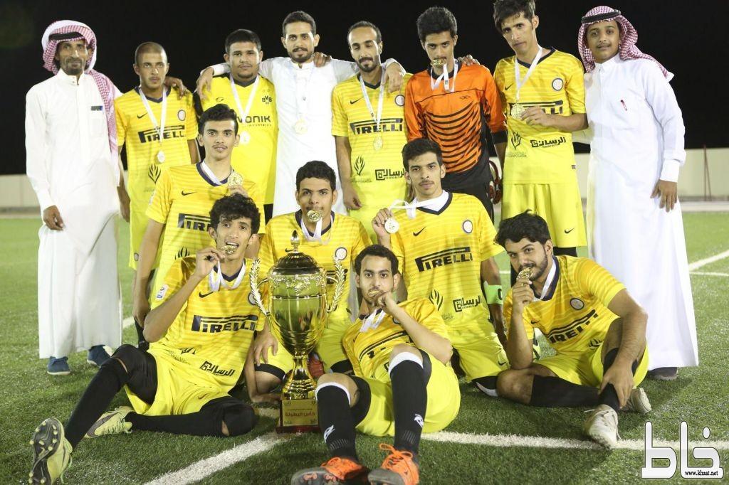 بالصور : برعاية لجنة التنمية الاجتماعية وبدعم عنايتكم للحلاقة وسام خاط  بطلاً لبطولة شباب خاط الثانية لكرة القدم 2018