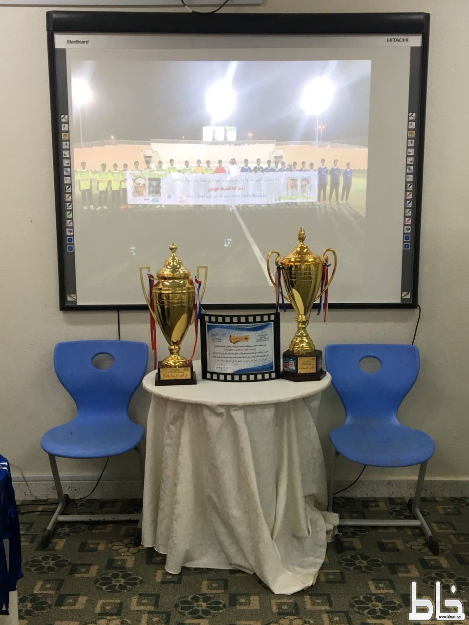 مدرسة الملك عبدالله بخاط تكرم ابطال ثنائية كرة القدم