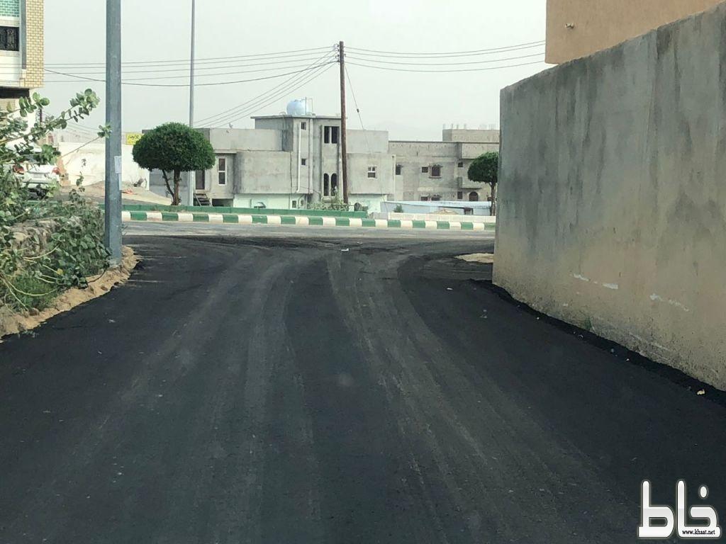 """تجاوباً مع مانشرته """" خاط """" بلدية المجاردة تسفلت مدخل قرى الخانقة والمقالع والشعبة"""
