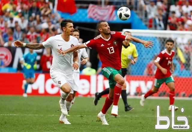 البرتغال تنهي احلام المغرب بهدف رونالدو.
