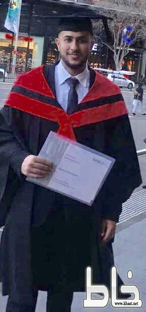 المهندس أحمد العمري يحتفل بتخرجه