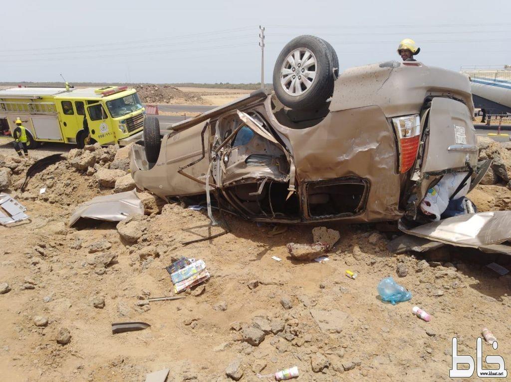 حادث انقلاب يخلف سبع إصابات وثلاث وفيات