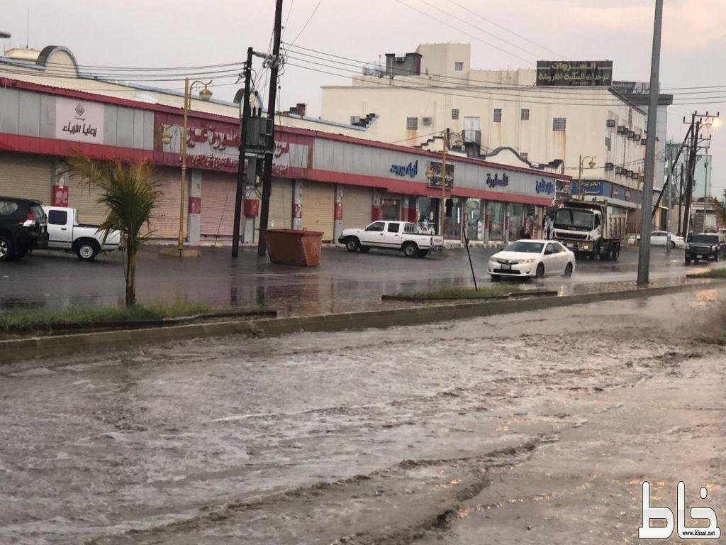 أمطار متوسطة الى غزيرة على محافظة المجاردة ومراكزها