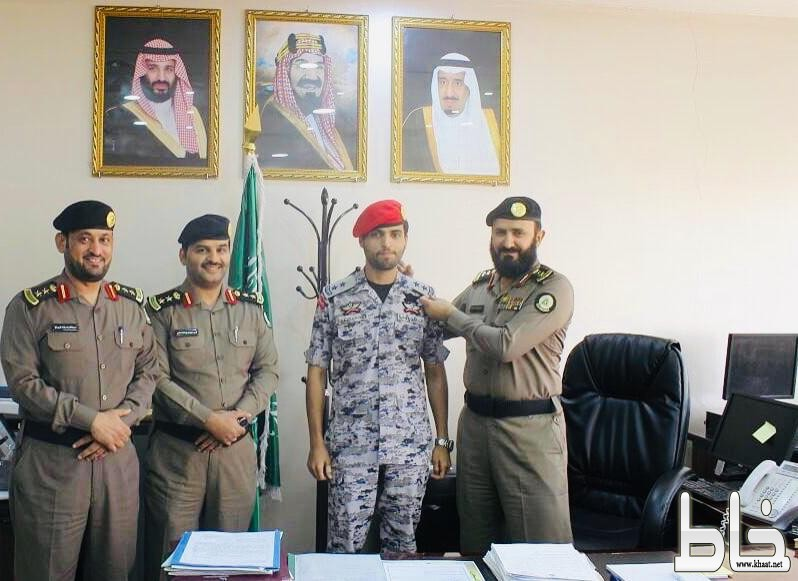(ترقية الملازم/احمد بن سعيد الشهري الى رتبة ملازم اول)
