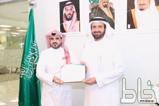 وزير الصحة يكرم ماجد الشهري ويوجه بايفاده لدراسة الماجستير