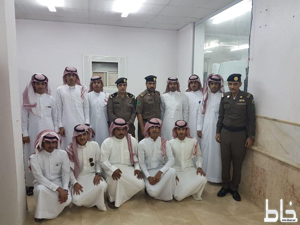 شعبة مرور المجاردة تستقبل وفداً طلابياً من ثانوية الملك عبدالله بمركز خاط