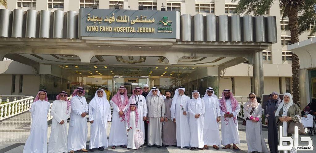 معايدة أعضاء ثقافة وفنون جدة لمرضى مستشفى الملك فهد