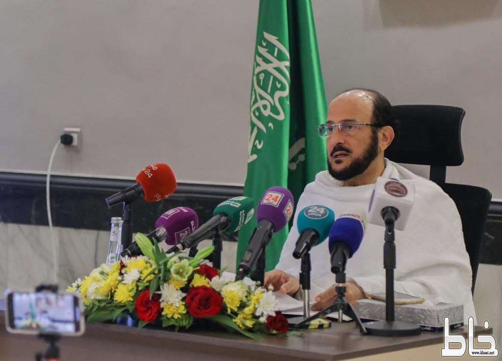معالي وزير الشؤون الإسلامية: 2300 موظفا على مدار الساعة لخدمة الحجاج