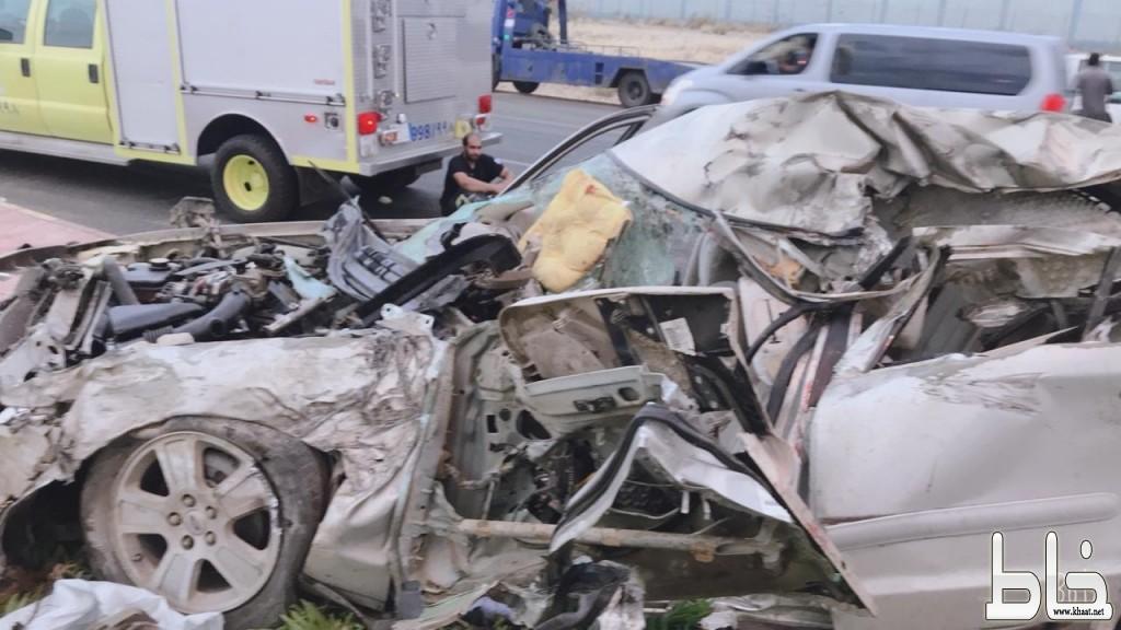 سبع وفيات واربع اصابات اثر حادث مروع بعسير