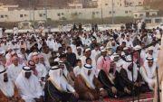 الرعيني محافظ المجاردة يتقدم المصلين لصلاة عيد الفطر المبارك