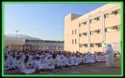 طلاب مدرسة الملك عبدالله بخاط يؤدون صلاة الاستسقاء اليوم الإثنين ١٧صفر ١٤٣٩هجري