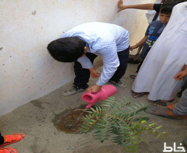 مدرسة سعد بن أبي وقاص تحتفل بأسبوع الشجرة