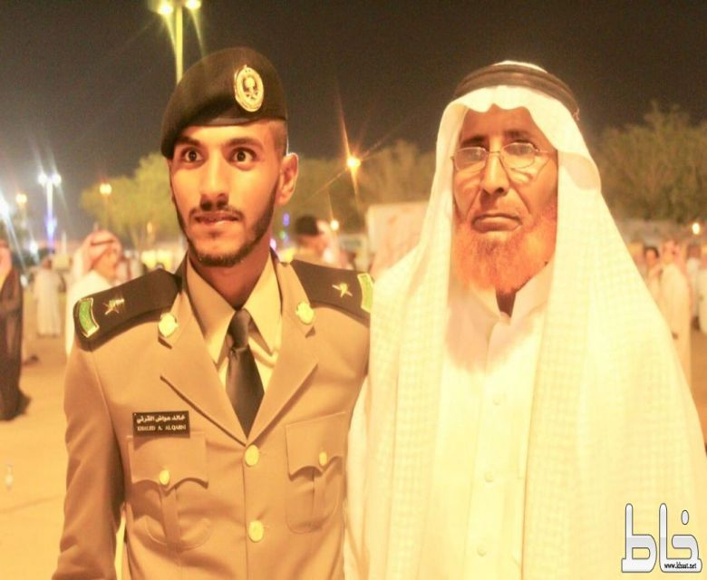 """الأستاذ عواض القرني يحتفل بتخرج نجله الملازم """" خالد """""""