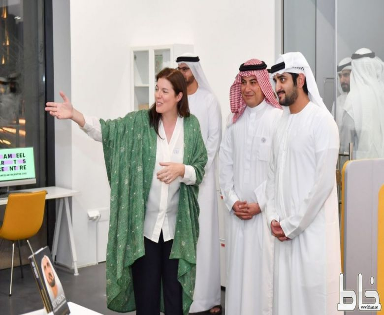 مكتوم بن محمد بن راشد يفتتح مركز جميل للفنون بدبي