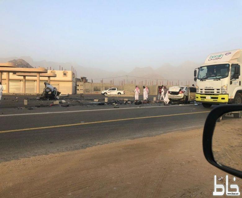 وفاة شابين في حادث تصادم مروع بمركز احد ثربان