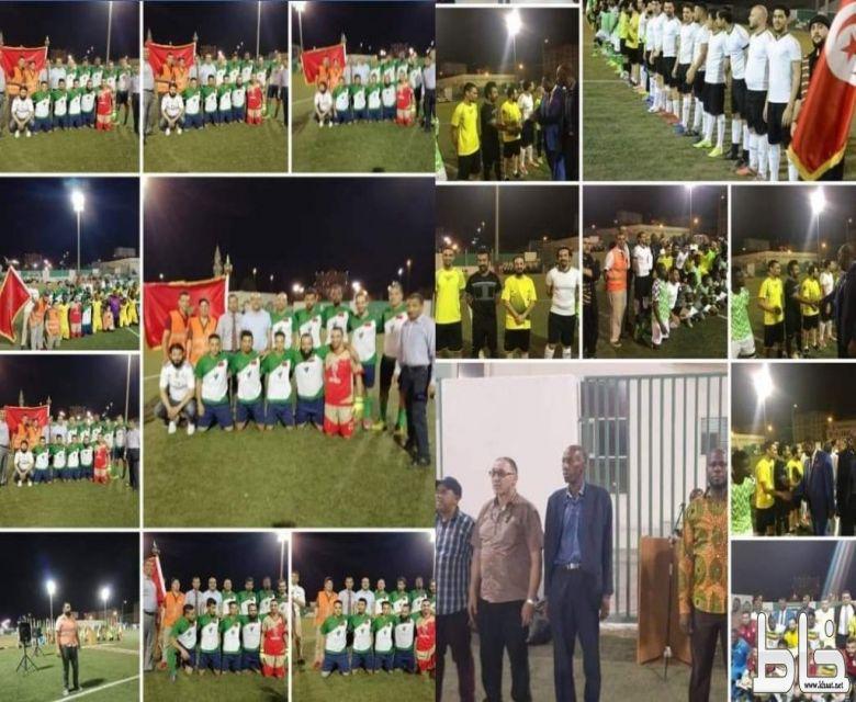 رابطة الجاليات المقيمة بالمملكة تقيم بطولة الدبلوماسيين لكرة القدم بمناسبة اليوم الافريقي