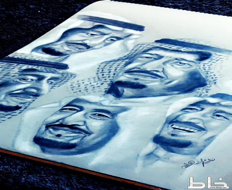 لوحات الفنانة التشكيلية ندى الشهري تتصدر اغلى سعر في معرض الواحة بمحايل