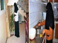 10عاملات نظافة سعوديات في أحد مطابخ منتجعات بالقصيم