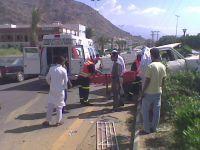 حادث مروري يعرقل الحركة المرورية بوسط المجاردة