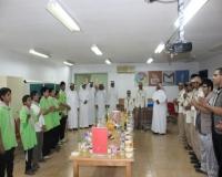 فرقة الكشافة بثانوية خاط تحتفل بشفاء الكشافين سلطان وعبدالرحمن العمري