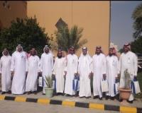 مدرسة الملك خالد الثانوية بالاحساء تستقبل وفد مدراء تطوير
