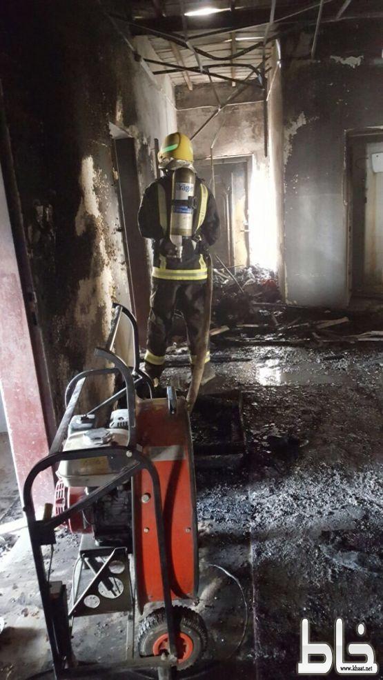 مدني المجاردة يباشر حريق بمنزل يتسبب في اصابة شاب بحروق من الدرجة الاولى