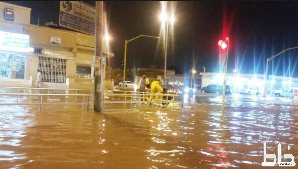حصيلة أمطار حفر الباطن .. 7 وفيات و11 إصابة و1176 بلاغاً