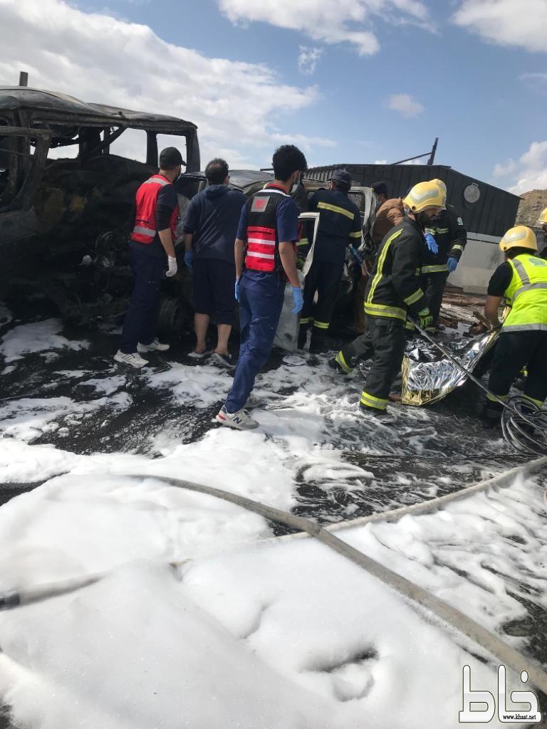 وفاة ستة اثر حادث مروع على طريق المية بين أبها وخميس مشيط
