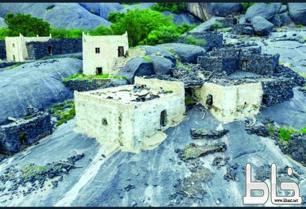 غيّة قرية بركانية تعانق السحاب