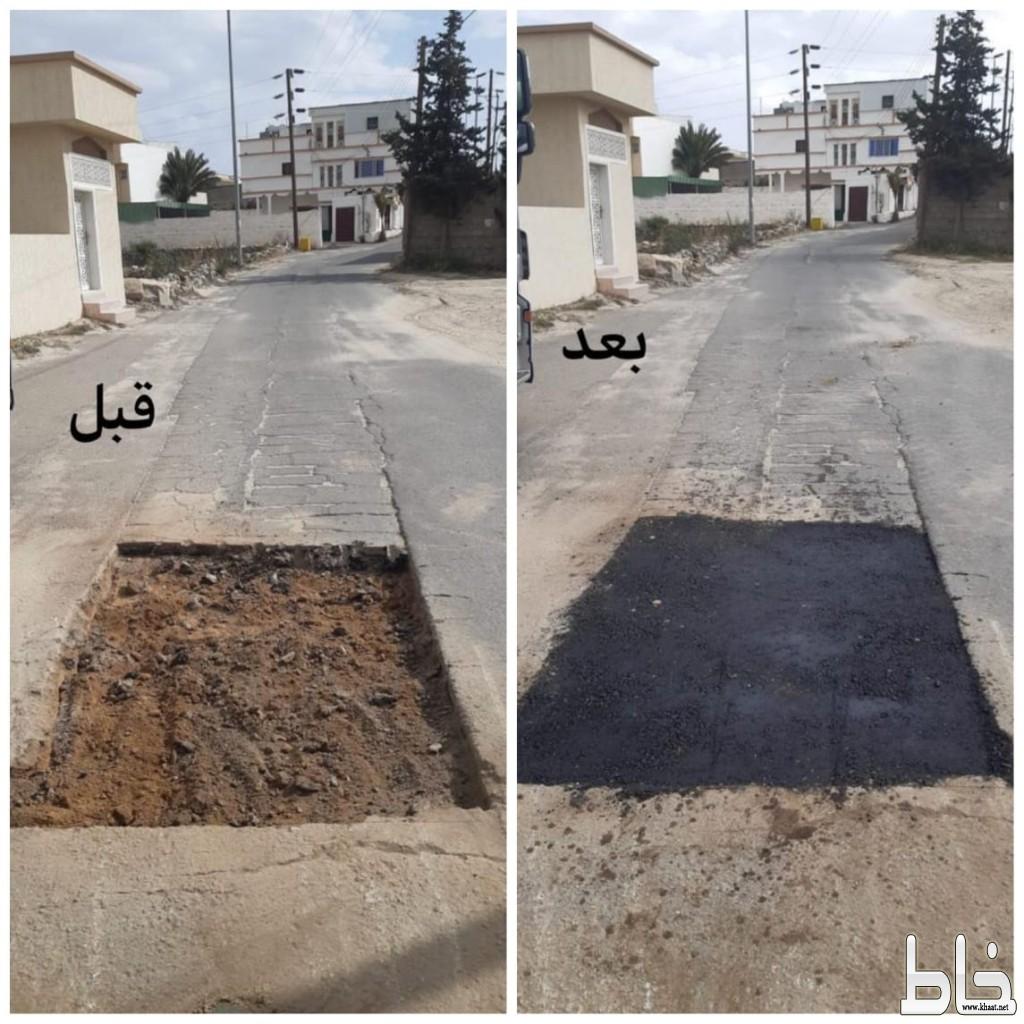بلدية النماص  ترفع أكثر من 220 طن من مخالفات البناء والهدم وتعيد إصلاح ما يقارب من 500 متر من الأرصفة المتهالكة وحفر الشوارع خلال الشهر الماضي