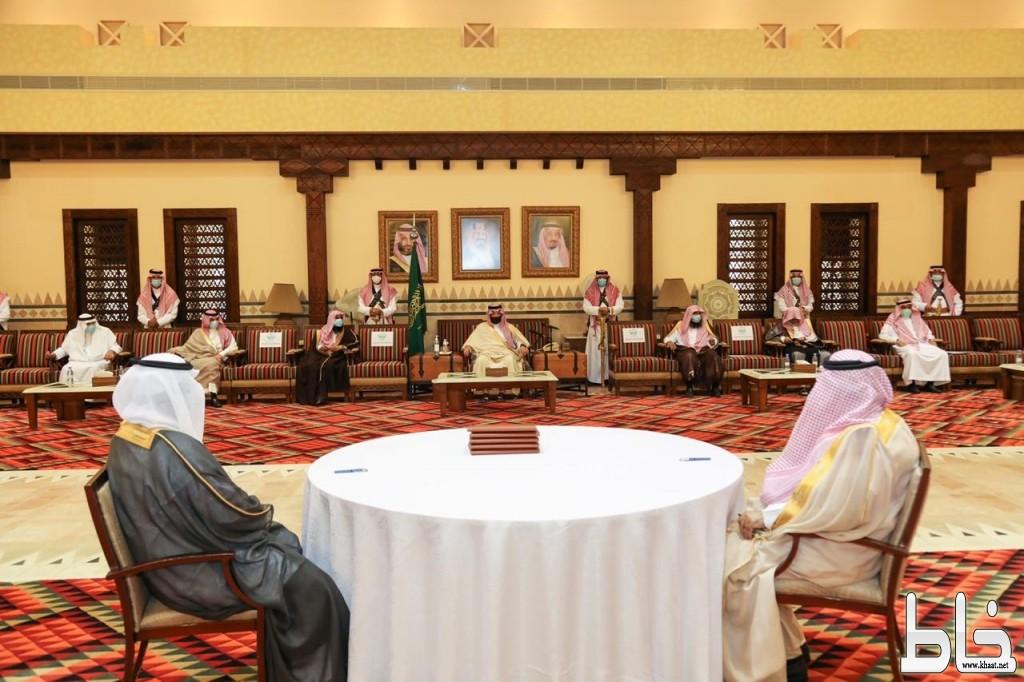 الأمير تركي بن طلال يرعى مراسم توقيع الصلح يبن أسرتي آل جرمان وآل صمعان
