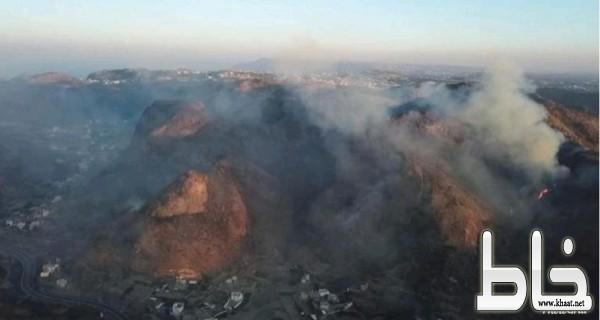 طائرات أرامكو تشارك في إخماد حريق تنومة