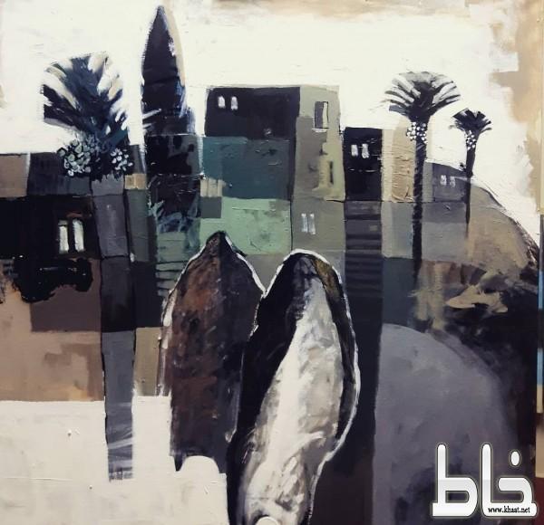 """المغربي يعرض  """"ما بعد الصمت"""" بأحلام غاليري"""