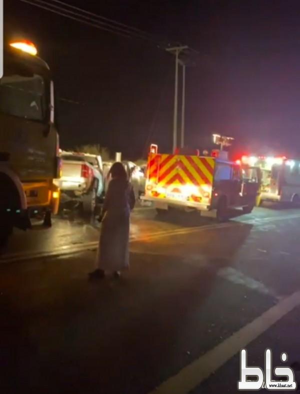 حادث تصادم في منعطف الموت بأحد ثربان يسبب وفاة شاب وإصابة آخر