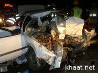 حادث مروري يعرقل الحركة المرورية بثلوث المنظر