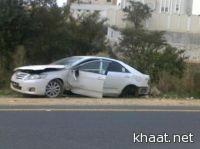 تعرض شاب مخمور لإصابات بعد اصطدام سيارته بعمود إنارة بالنماص