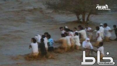 فيديو وصور : هياط الشباب في السيول رغم التحذيرات