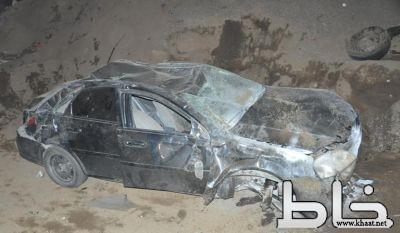 اصابة مواطن بحادث سير على طريق خاط المجاردة