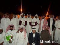 اسرة مدرسة الفيحاء بخاط تكرم الأستاذ احمد علي والأستاذ  محمد زين