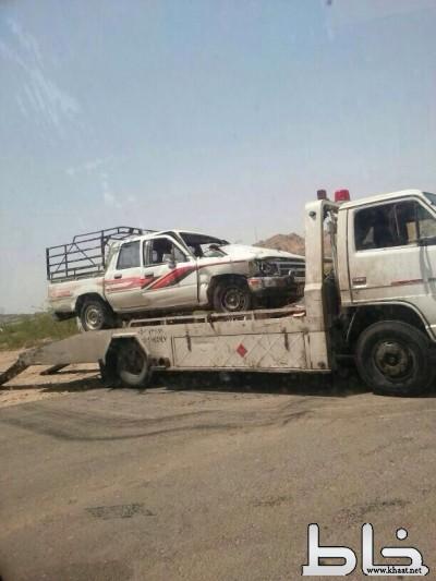 مصرع مقيم واصابة مواطن اثر حادث بمركز ثربان