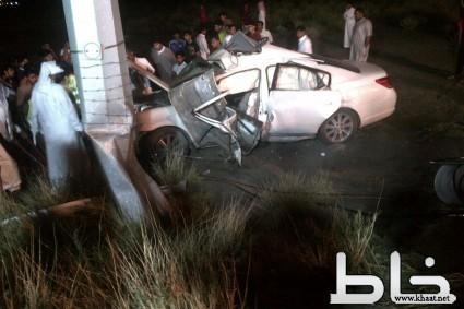مصرع واصابة 9 بحادث شنيع بمحافظة بارق