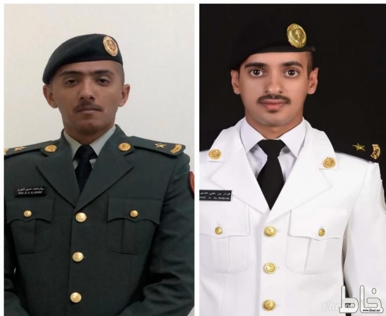 فواز وريان من أل مجامد يتخرجان برتبة ملازم
